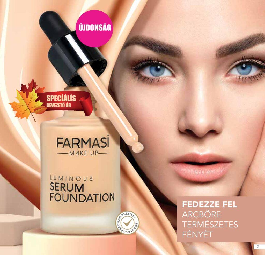 Farmasi fényesítő alapozó és szérum (Farmasi Serum Foundation)