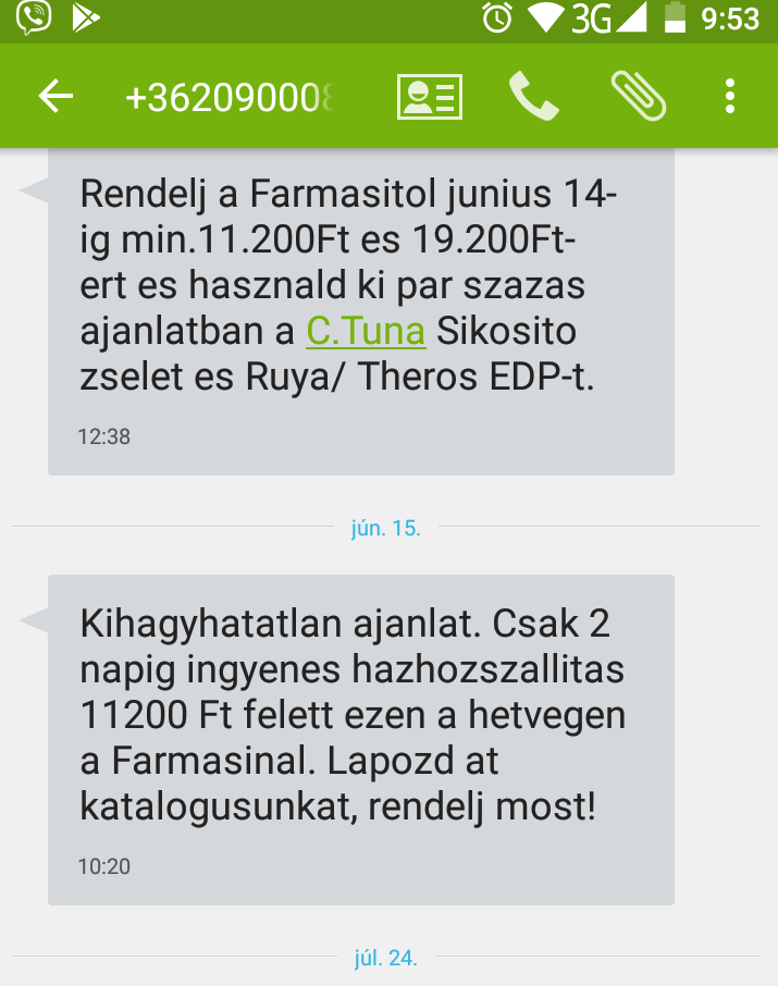 Farmasi marketing sms